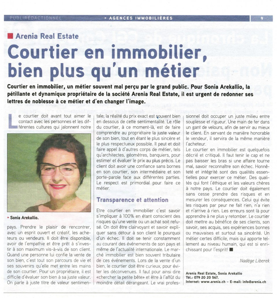 Article Tout Immo Arenia - Arenia Real Estate